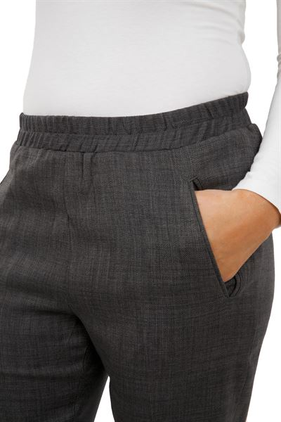 Elasticated waist & side pocket trousers